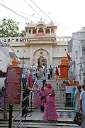 India, Rajasthan, Pushkar The temple of Brahman