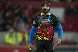 March 23, 2019 - Limerick, Ireland - Maxime Mbanda of Zebre during the Guinness PRO14 match between Munster Rugby and Zebre at Thomond Park Stadium in Limerick, Ireland on March 23, 2019  (Credit Image: © Andrew Surma/NurPhoto via ZUMA Press)