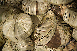 South America, Ecuador, Pujili, sugar candy wrapped in leaves, weekly outdoor food market