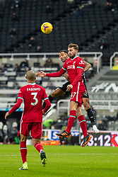 NEWCASTLE-UPON-TYNE, ENGLAND - Wednesday, December 30, 2020: Liverpool's Nathaniel Phillips during the FA Premier League match between Newcastle United FC and Liverpool FC at St. James' Park. The game ended in a goal-less draw. (Pic by David Rawcliffe/Propaganda)