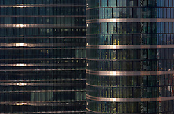 BRUSSELS, BELGIUM - APRIL-04-2007 -  Abstract view of glass office tower in downtown Brussels.(PHOTO  © JOCK FISTICK)