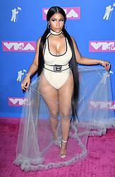 Nicki Minaj arriving at the MTV Video Music Awards 2018, Radio City, New York. Photo credit should read: Doug Peters/EMPICS