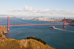Marin Headlands; sightseeing; Golden Gate Bridge, San Francisco, California, USA.  Photo copyright Lee Foster.  Photo # california108740