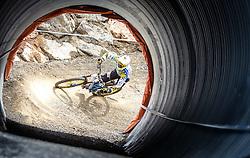 14.06.2014, Bike Park, Leogang, AUT, UCI, Mountainbike Weltcup, Leogang, Downhill, Herren, im Bild Markus Pekoll (AUT) // during Mens Downhill of UCI Mountainbike Worldcup at the Bikepark, Leogang, Austria on 2014/06/14. EXPA Pictures © 2014, PhotoCredit: EXPA/ JFK