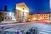 VICENZA, CENTRO STORICO, CHIESA TEMPIO DI SAN LORENZO E PIAZZA SAN LORENZO, VENETO, ITALIA