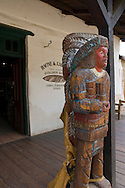 Wooden statue of Indian holding cigars, Old Town San Diego State Historic Park, San Diego, California