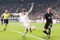 (L-R) Adem Ljajic of Besiktas JK , Soren Rieks of Malmo FF during the UEFA Europa League group I match between between Besiktas AS and Malmo FF at the Besiktas Park on December 13, 2018 in Istanbul, Turkey