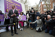 London, UK. Monday 30th March 2015. Ukip leader Nigel Farage MP announces his party's key election pledges at Smith Square, Westminster. The UK Independence Party, is a right-wing political party in the United Kingdom.