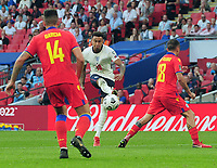 Football - 2022 FIFA World Cup - European Qualifying - Group I - England vs Andorra - Wembley Stadium - Sunday 5th September 2021<br /> <br /> Jesse Lingard of England scores his second goal (England's third)<br /> <br /> Credit : COLORSPORT/Andrew Cowie