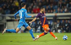 Hoffenheim's Florian Grillitsch (left) and Manchester City's Ilkay Gundogan battle for the ball