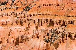 Bryce Canyon National Park, closeup, Rock formations, hoodoos of Silent City in Ampitheater, erosion, arid, Utah, UT, Southwest America, American Southwest, US, United States, Image ut362-18867, Photo copyright: Lee Foster, www.fostertravel.com, lee@fostertravel.com, 510-549-2202