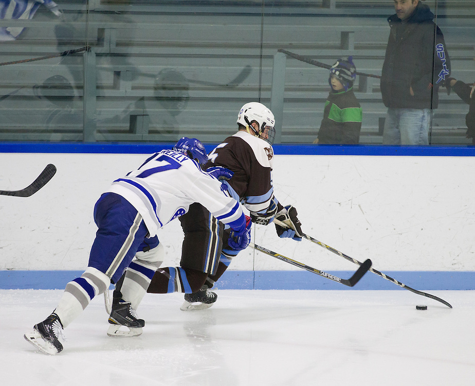Colin Reilly, of Colby College, in a NCAA Division III hockey game against Tufts University on February 20, 2015 in Waterville, ME. (Dustin Satloff/Colby College Athletics)