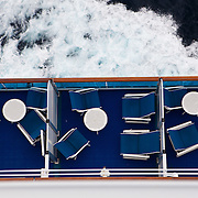 Photo of looking top down on room balconies of Princess Cruise Ship.