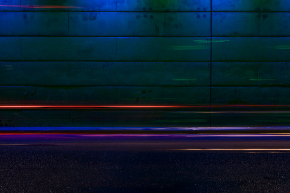 Speeding abstract lines in blue