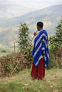 Rwanda, Virunga Mountains, Local man