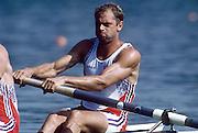 Barcelona,  SPAIN, Steve REDGRAVE, 1992 Olympic Regatta. Lake Banyoles, Nr Barcelona SPAIN,  [Photo, Peter Spurrier/Intersport-images]..