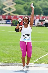 Samsung Diamond League adidas Grand Prix track & field; Women's Shot Put, Cleopatra Borel, TRI