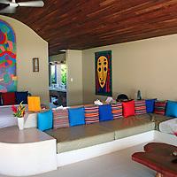 Central America, Costa Rica, Playa Esterillos Este. Alma del Pacifico villa interior.