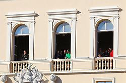 Beatrice Casiraghi, Princess Caroline of Hanover, Sacha Casiraghi, Raphael Casiraghi, Charlotte Casiraghi and Tatiana Casiraghi, Princess Charlene of Monaco and Prince Albert II of Monaco attending the Monaco National Day Celebrations in the Monaco Palace Courtyard on November 19, 2017 in Monaco, Monaco. Photo by Yuri Krakow/ABACAPRESS.COM