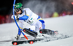 26.01.2016, Planai, Schladming, AUT, FIS Weltcup Ski Alpin, Schladming, Slalom, Herren, 1. Durchgang, im Bild Axel Baeck (SWE) // Axel Baeck of Sweden competes during his 1st run of men's Slalom Race of Schladming FIS Ski Alpine World Cup at the Planai in Schladming, Austria on 2016/01/26. EXPA Pictures © 2016, PhotoCredit: EXPA/ Johann Groder