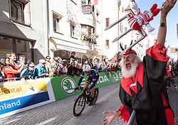 26.09.2018, Innsbruck, AUT, UCI Straßenrad WM 2018, Einzelzeitfahren, Elite, Herren, von Rattenberg nach Innsbruck (54,2 km), im Bild Radsport Teufel Didi Senft (GER) // cyclists devil Didi Senft of Germany during the men's individual time trial from Rattenberg to Innsbruck (54,2 km) of the UCI Road World Championships 2018. Innsbruck, Austria on 2018/09/26. EXPA Pictures © 2018, PhotoCredit: EXPA/ Reinhard Eisenbauer