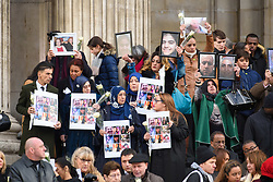 People, including families of the victims and local residents, leave the Grenfell Tower National Memorial Service, at St Paul's Cathedral in London, which marked the six month anniversary of the Grenfell Tower fire. Picture date: Thursday December 14th, 2017. Photo credit should read: Matt Crossick/ EMPICS Entertainment.