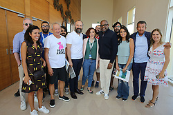 Egyptian billionaire Naguib Sawiris (2nd from L) poses with US actor Forest Whitaker (5th from R) and Tunisian producer Tarak Ben Ammar (2nd from R) and actresses Bushra Rozza (3rd from R) and Shahira Fahmy (1st from L) in El Gouna, Egypt, on September 29, 2017, on the last day of El Gouna Film Festival. Photo by Balkis Press/ABACAPRESS.COM