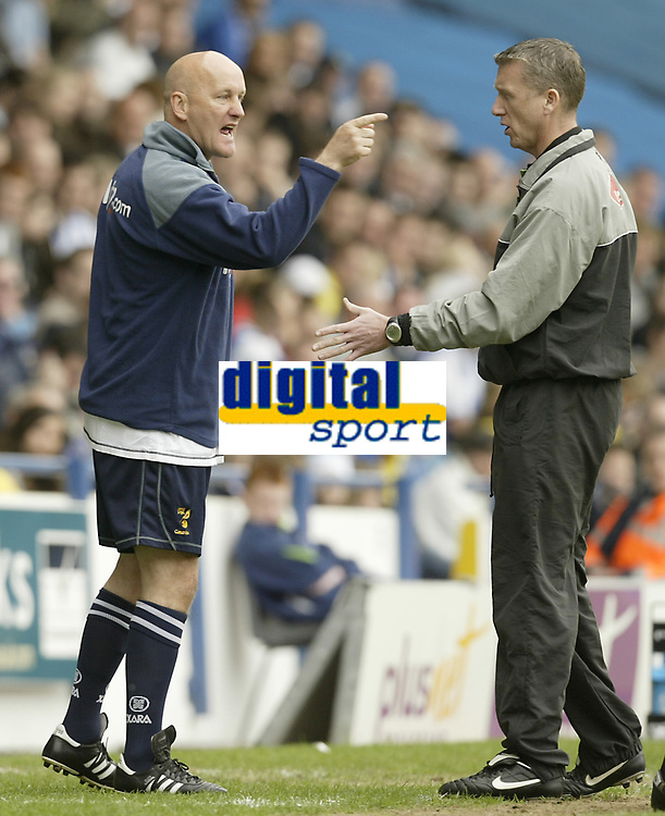 Photo: Aidan Ellis.<br /> Sheffield Wednesday v Norwich City. Coca Cola Championship. 06/05/2007.<br /> Norwich's assistant argues with the fourth official as things go wrong for Norwich on the pitch