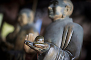 Some statues are seen in a Buddhist temple in the Bamboo Sea National Park (Chinese:南山竹海) in Yibin, China, August 07, 2014.<br /> <br /> Confucianism, Taoism and Buddhism are the three major religions in China. Temples and statues witness their ancient roots all over the Chinese country.<br /> <br /> © Giorgio Perottino