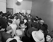 Seamen looking for employment, Finland, 1950s