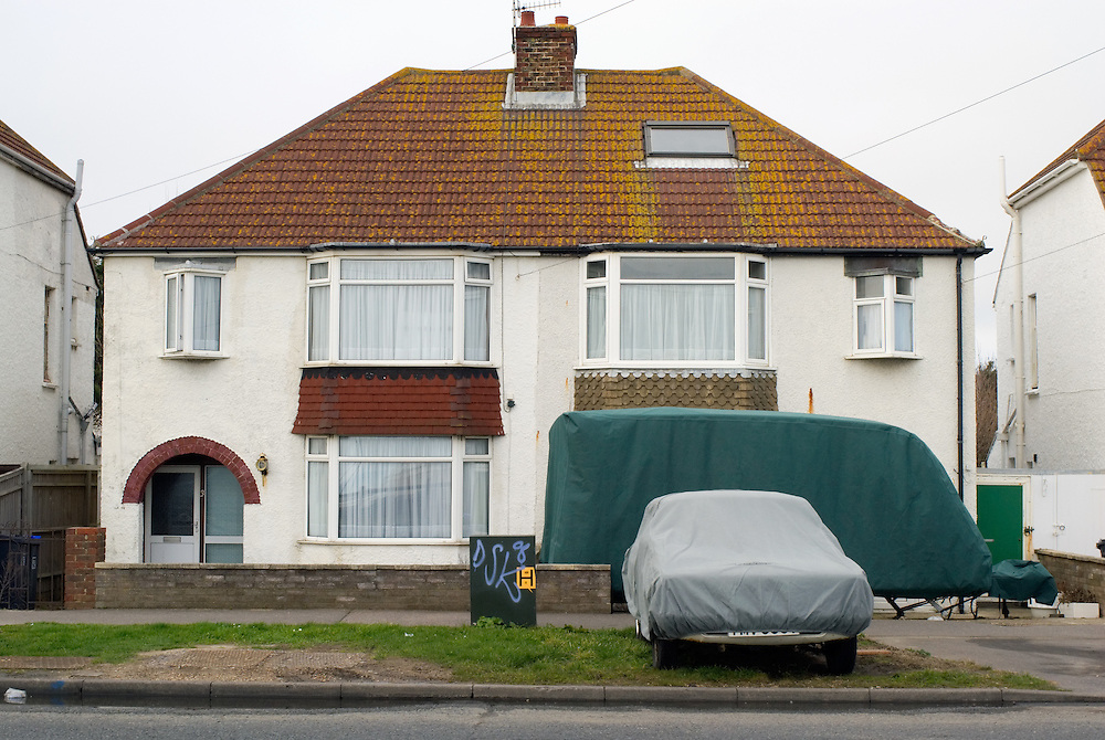 Houses in Southwick, Brighton, England.