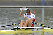 Chungju, South Korea. Sunday Heats, USA. LM1X. Andrew CAMPBELL Jr. Moves away from the start on the opening day of the 2013 FISA World Rowing Championships, Tangeum Lake International Regatta Course. 10:11:26  Sunday  25/08/2013 [Mandatory Credit. Peter Spurrier/Intersport Images]
