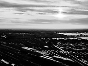 Nederland, Utrecht, Tienhoven, 14-09-2019; veenweide gebied tussen Tienhoven en Maartensdijk, Breukelveensche - Stille Plas (Loosdrechtse Plassen) in het verschiet. Trilvenen, petgaten en stroken verkaveling in tegenlicht.<br /> Peat meadow area between Tienhoven and Maartensdijk, landscape in backlight.<br /> luchtfoto (toeslag op standard tarieven);<br /> aerial photo (additional fee required);<br /> copyright foto/photo Siebe Swart