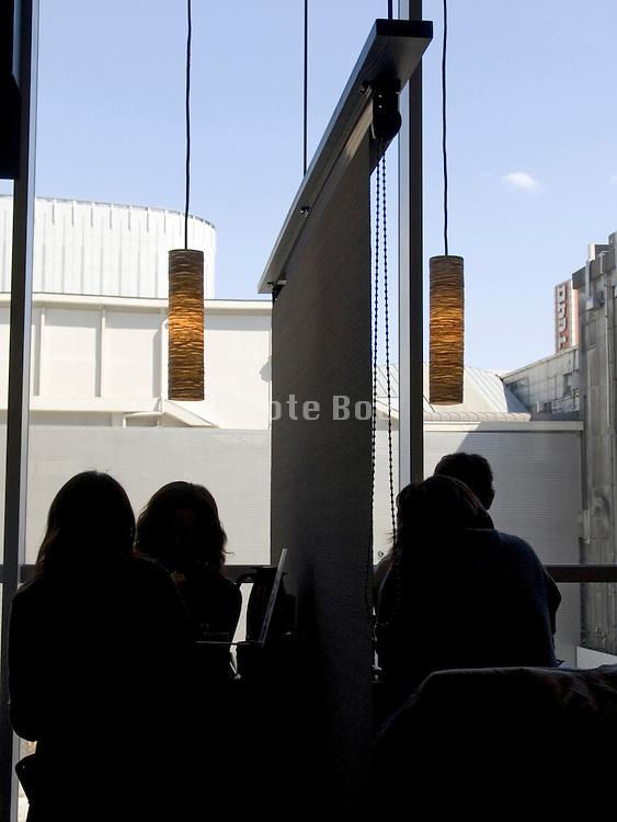 inside a modern designed restaurant in Tokyo