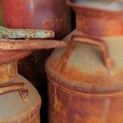 Rusted Milk Barrels - Pottsville - Merlin, Oregon - Lensbaby