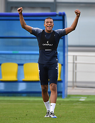 Kylian MBappe during French Team training session during the FIFA World Cup 2018 on June 23, 2018 in Istra, Russia. Photo by Christian Liewig/ABACAPRESS.COM