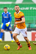 Allan Campbell (#6) of Motherwell FC during the SPFL Premiership match between Hibernian FC and Motherwell FC at Easter Road, Edinburgh, Scotland on 27 February 2021.