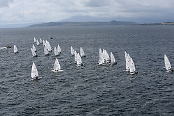 Day 4 NeilPryde Laser National Championships 2014 held at Largs Sailing Club, Scotland from the 10th-17th August.<br /> <br /> Laser Radial Fleet Start<br /> <br /> Image Credit Marc Turner