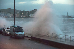 © Licensed to London News Pictures. 15/11/2020. Aberystwyth, UK. Gale force winds and massive waves batters the Welsh seaside resort of Aberystwyth in Ceredigion, Wales. Photo credit: Graham M. Lawrence/LNP