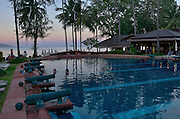 Hat Choeng Mon (beach). The pool at Imperial Boat House Hotel.
