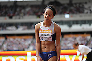 Katarina Johnson-Thompson of Great Britain in the long jump during the Sainsbury's Anniversary Games at the Queen Elizabeth II Olympic Park, London, United Kingdom on 25 July 2015. Photo by Phil Duncan.