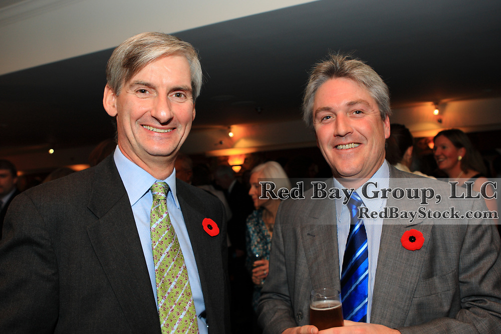 Nicolas Austin and Charles Beaudinet at the 2009 Canadian Eventing Hall of Fame Gala in Toronto, Ontario.