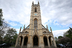 A general view of the church outside St Luke's and Christ Church, London.