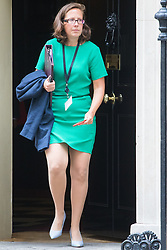 Downing Street, London, September 9th 2016.  Lord Privy Seal and Leader of the House of Lords Baroness Natalie Evans  leaves 10 Downing Street following the weekly cabinet meeting.