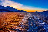 The Norwegian coastline near Midsund, More og Romsdal County, between Alesund and Molde, Norway.