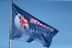 Betfred British masters flag during day four of the Betfred British Masters at Hillside Golf Club, Southport.