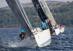 Largs Regatta Week 2017 <br /> <br /> Day 2, GBR9470R, Banshee, Charlie Frize, CCC, Corby 33.<br /> <br /> Picture Marc Turner