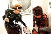 PALOMA FAITH; LULU GUINNESS;  , Lulu Guinness And Rob Ryan Fan Bag - Launch Party. Air Gallery. London. 10 November 2010.  -DO NOT ARCHIVE-© Copyright Photograph by Dafydd Jones. 248 Clapham Rd. London SW9 0PZ. Tel 0207 820 0771. www.dafjones.com.