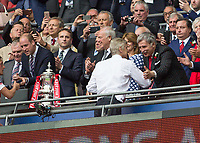 Football - 2017 FA Cup Final - Arsenal vs. Chelsea<br /> <br /> Arsenal Manager Arsene Wenger receives crongratulations from Stan Kroenke at Wembley.<br /> <br /> COLORSPORT/DANIEL BEARHAM