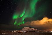 Aurora Borealis in Mosfellsdalur, southwest Iceland
